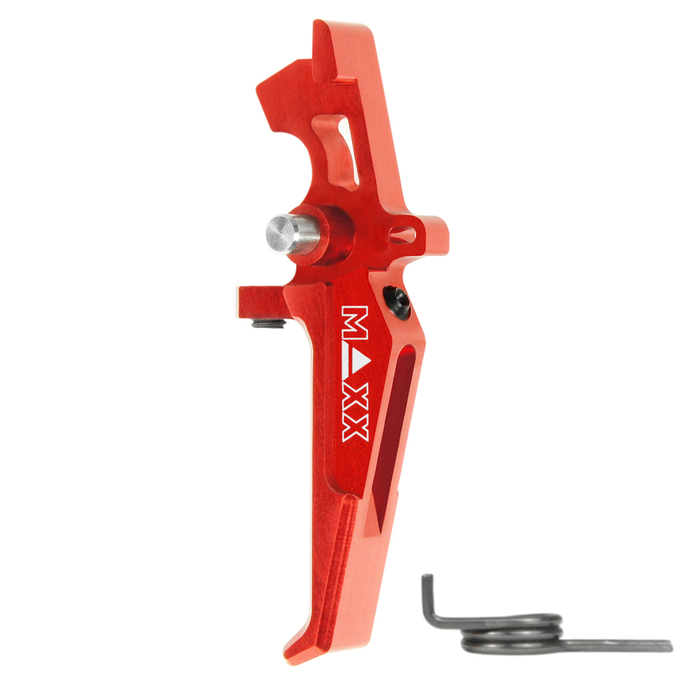 CNC Aluminum Advanced Speed Trigger (Style E) (Red)